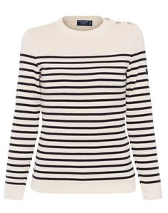 Saint James has remained true to its Breton heritage for over 150 years, producing the highest quality nautical-inspired silhouettes in their Normandy, France-based factory. Renowned for their trademark stripes, Saint James has been outfitting professional sailors and fashion conscious consumers for over a decade.  This traditional Breton fisherman sweater is one of their classic styles. Its close-knit quality and double-twist wool will keep you warm throughout the new season. Wear yours…