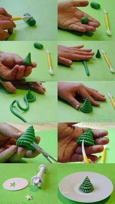 DIY 15 Christmas Polymer Clay Ideas - Christmas Tree http://diymakeit.com/diy-15-christmas-polymer-clay-ideas/ #DIY #Polymer #Clay