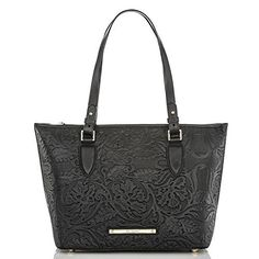 The #Brahmin Medium Asher Tote in Black Saint Germaine. I LOVE this texture.