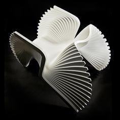 Furniture design by Alexander White . the MONROE chair - inspired by the Marilyn Monroe's famous billowing dress. Furniture Inspiration, Design Inspiration, Furniture Decor, Furniture Design, Bespoke Furniture, Design Living Room, Parametric Design, Take A Seat, Cool Chairs
