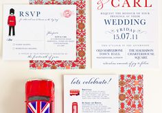 Interesting ideas for a celebration of an event and a place. #wedding #london #new_york