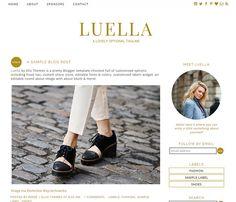 Blogger Template Premade Blog Design  Luella Instant by ElloThemes #bloggertemplate #chicblog