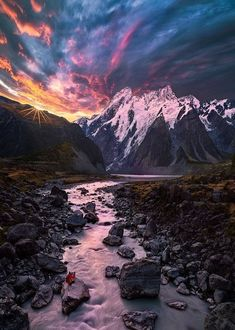 Mount Cook National Park, New Zealand  By:- Celia W. Zhen