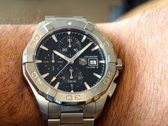 New TAG Heuer Aquaracer Chronograph Dream Watches, Tag Heuer, Omega Watch, Chronograph, Accessories, Men Styles, Watch, Watches, Ornament