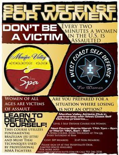 Self-Defense Class Flyer - See the Best Non-Lethal Self-Defense Weapon for Women at http://www.selfdefensegearco.com/viper.htm