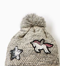 Image 2 of Unicorn patch hat from Zara