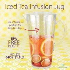 Check out our Awesome Iced Tea Infusion Jug from Steeped Tea!  It is BPA Free and has an internal infuser!  Visit www.mysteepedteaparty.com/Tea-He-He/ to order now!