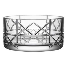 Orrefors 'Explicit Checks' Lead Crystal Bowl (€180) ❤ liked on Polyvore featuring home, home decor, clear, inspirational home decor, lead crystal bowl, orrefors and orrefors bowl