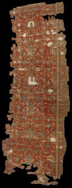 17th century Anatolian carpet fragment, The Metropolitan Museum of Art, New York