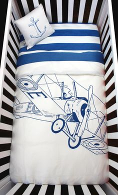 Ensemble literie pour bébé modèle Biplan 100% par atelieredele