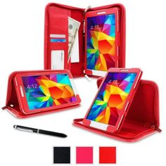 """I'm learning all about rooCASE Samsung Galaxy Tab 4 8.0 SM-T330 Case - Executive Portfolio Leather 8"""" 8-Inch Cover for Galaxy Tab 4 8.0, Red at @Influenster!"""