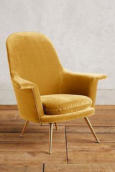 Velvet Kimball Chair #anthropologie
