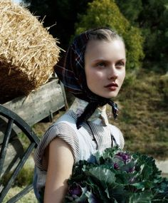 Kamila Filipcikova in 'Living Green', photographed by Steven Meisel for Vogue Italia, February 2008.