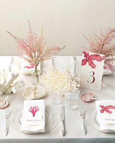 Our ocean-inspired clip art gives table numbers—and place cards—beachy vibes.