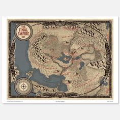 Final Empire Map Poster - Brandon Sanderson Store