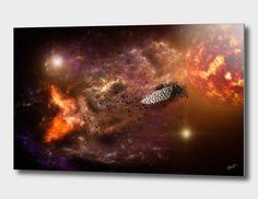 Découvrez «Asteroids», Édition Limitée Oeuvres sur Aluminium par Alain Gaymard…