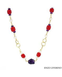 ENZO LIVERINO Made in Italy Necklace Designed in 18K Yellow Gold  Women #Jewelry