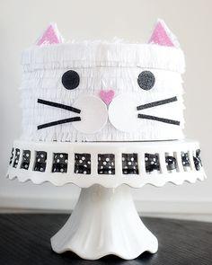 kitty cat valentine box | pretty plain janes