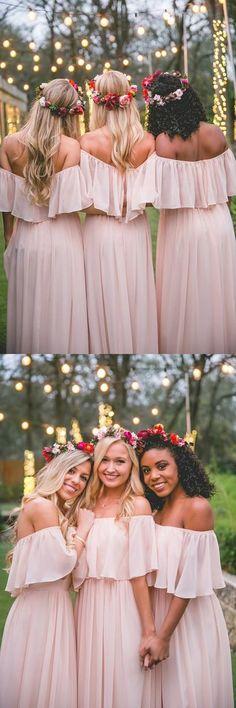 Off Shoulder Chiffon Cheap Popular New Simple Bridesmaid Dress, dress for wedding guest , WG231 #bridesmaiddresses
