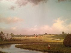 Newburyport Marshes: Approaching Storm, Martin Johnson Heade (1871).  Taken with my iPhone at the Art Institute of Chicago.