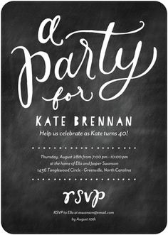 Dusted Delight - Adult Birthday Party Invitations - Magnolia Press - Black