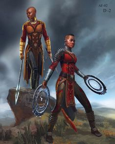 Okoye and Nakia Concept Art - Anthony Francisco