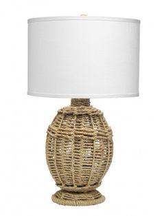 JUTE URN TABLE LAMP SMALL