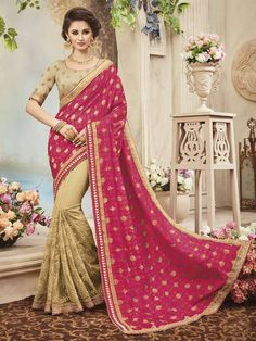 Indian designer party wear saree ethnic pakistani bollywood wedding lehenga sari #Handmade #SareeBlouse