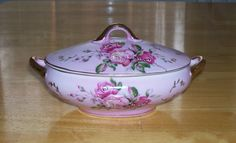 Vintage china decorative oval covered dish by OnPointCollectibles