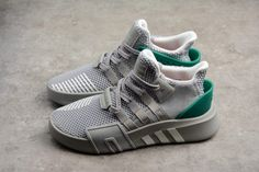 db8435f80223 adidas EQT Bask ADV Grey Two Footwear White Sub Green For Sale-1
