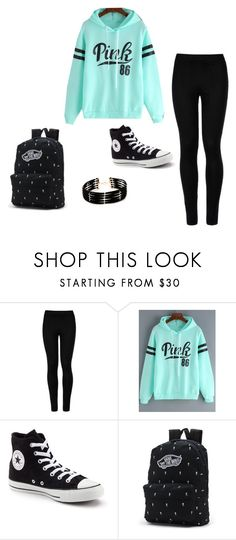 """Untitled #1"" by alyssa-85 ❤ liked on Polyvore featuring Wolford, Converse, Vans and Forever 21"