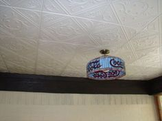 decorative ceiling tiles why didn t i think if this, home decor, kitchen backsplash, tiling, Diamond Wreath styrofoam tiles are fun and flirty Read more at