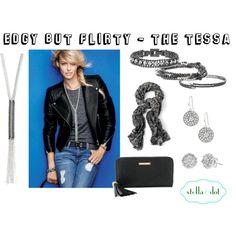"""Edgy but Flirty - The Tessa"" by jessica-reinert-ehst on Polyvore. www.stelladot.com/jessicaehst"