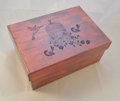 Handpainted and Stamped Jewellery Trinket Box £5.00