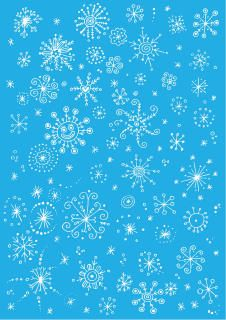 Icy winter scrapbook paper - snowflakes