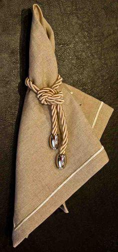 anel de guardanapo com cordao como fazer - Pesquisa Google