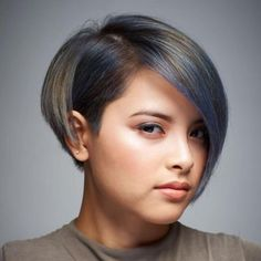 50 Super Cute Looks with Short Hairstyles for Round Faces Short Asymmetrical Bob With Bangs Short Hair Cuts For Round Faces, Bob Hairstyles For Round Face, Easy Hairstyles For Medium Hair, Short Hair Styles Easy, Hairstyles Haircuts, Medium Hair Styles, Bob Hairstyles With Fringe Over 50, Cropped Hairstyles, Hairstyles Pictures
