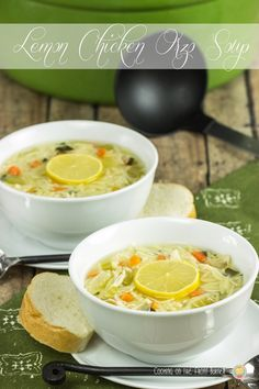 Lemon Chicken Orzo Soup | Cooking on the Front Burner #lemonsoup #paneracopycat