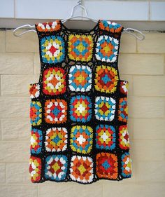 Granny Square Jacket Crochet Vest by TinaCrochet2016 on Etsy