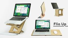 Ultra Thin, Portable, Multifunctional: Laptop stand, Lapdesk, Standing stand – 3 in 1 ergonomic device for improving your back posture.