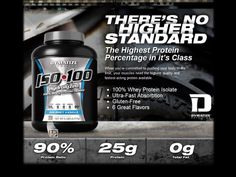 #Dymatize_ISO_100_Zero_Carb comprises of 100% #Whey_Protein_Isolate