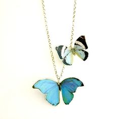 2 X Butterfly Necklace | Contemporary Necklaces / Pendants by contemporary jewellery designer Grainne Morton