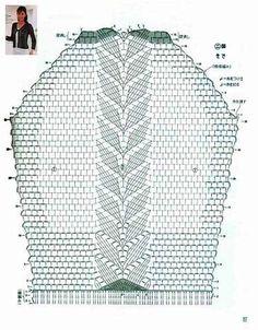 Летняя ажурная кофточка крючком, схема.3