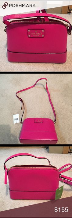NWT Kate spade cross-body bag New with tags Kate spade cross-body bag. Strap is adjustable. Color is sweetheart pink. kate spade Bags Crossbody Bags