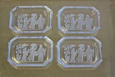 Intaglio Salt Cellars / Graceful Goddesses ♥ | Shop PeriodElegance's Crystal www.PeriodElegance.etsy.com #vintagesaltcellars #vintageintagliosalts