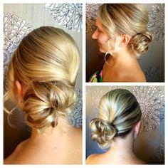 Sleek Modern Chignon.  Bridal, Wedding Style.  Stylist from Mirror Mirror Salon & Spa in Kelowna, BC