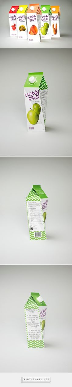 Wonky Juice Twisted Packaging Design by Shona Lett (UK) - http://www.packagingoftheworld.com/2016/05/wonky-juice-student-project.html