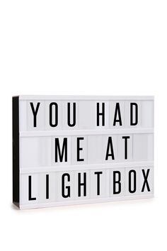 <p>Lighten up with a light box! Personalise the heck out of your space or party with 69 letters to play around with. The absolute standout party prop, but be warned party goers will spell out cheeky words and Typo endorses such behavior. Width: 30cm Height: 22cm</p>