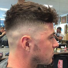 Peaky Blinders Hairstyles - High Skin Fade with Textured Crop on Top