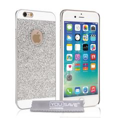 Yousave Accessories iPhone 6 and 6s Flash Diamond Case - Silver | Mobile Madhouse